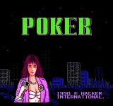 Peek-A-Boo Poker NES Title screen (Japanese version)