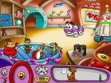 Putt-Putt Enters the Race Windows The toy shop, already known from the first Putt-Putt game.