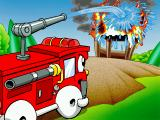 Putt-Putt Enters the Race Windows Smokey the Fire Engine puts out the fire.