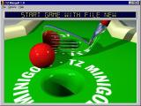 TZ-Minigolf Windows 3.x The game's main screen which is seen after the shareware nag screen has been disposed of.
