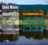 PGA Tour 98 PlayStation Game mode screen