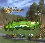 PGA Tour 98 PlayStation Sawgrass course - overview of the first hole