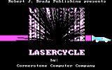Laser Cycle DOS Title screen (alternate color set)