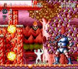 Jim Power: The Lost Dimension in 3D SNES The first boss got Jim due to his camoflaging with the background