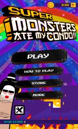 Super Monsters Ate My Condo! Android Main menu