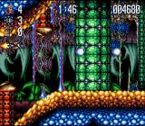 Jim Power: The Lost Dimension in 3D SNES The spaceship proceeding through the jungle