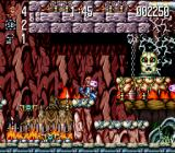 Jim Power: The Lost Dimension in 3D SNES Jim fights his way past a big head