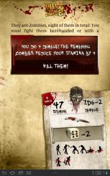 Blood of the Zombies Android Fighting zombies with a penknife