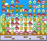 UNDAKE 30: Same Game Daisakusen - Mario Version SNES The game board