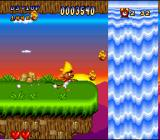 Speedy Gonzales in Los Gatos Bandidos SNES Near a waterfall