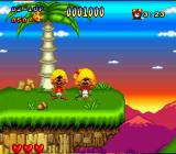 Speedy Gonzales in Los Gatos Bandidos SNES Speedy standing next to a rescued mouse
