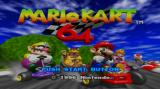 Mario Kart 64 Wii Title screen