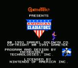 American Gladiators NES Title Screen