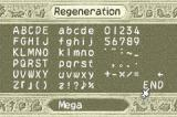"Monster Rancher Advance 2 Game Boy Advance Creating a monster using the letters ""Mega"""