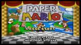 Paper Mario Wii Title screen