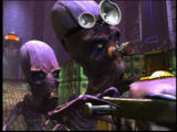 Oddworld: Munch's Oddysee Windows Two creepy doctors are having a conversation. As usually in Oddworld games, cutscenes are splendidly animated
