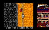 Indiana Jones and the Temple of Doom Amiga Bonus Round - The goal here is to find and whip the golden statue for extra points.