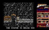 Indiana Jones and the Temple of Doom Amiga Bonus Round - Watch the bottom of the screen for info about where the golden statue is.