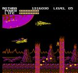 Godzilla: Monster of Monsters NES Mothra avoids unstable land rising up