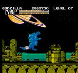 Godzilla: Monster of Monsters NES There are plenty of city ruins around Saturn