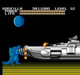 Godzilla: Monster of Monsters NES Godzilla is all ready to smash up an alien cruiser