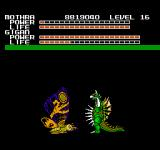 Godzilla: Monster of Monsters NES Mothra VS Gigan... the monster with a buzz-saw in his chest