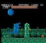 Godzilla: Monster of Monsters NES Plant life rising up against Godzilla