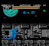 Godzilla: Monster of Monsters NES Space Stations in the sky and a wall blocking the way