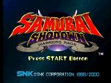 Samurai Shodown: Warriors Rage PlayStation Title screen