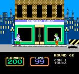 Urban Champion NES Your goal is to knock your opponent into the open manhole