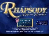 Rhapsody: A Musical Adventure PlayStation Title screen