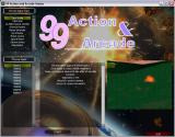 99 Action & Arcade Windows The main menu runs in a window. From here the player accesses the game type and level they want to play.