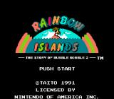Rainbow Islands NES Title
