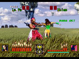 Battle Monsters SEGA Saturn Nice battle - clouds, grass... and enemy warrior woman