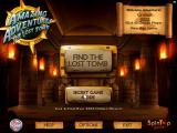 Amazing Adventures: The Lost Tomb Windows The main menu in English with the Secret Mode unlocked The title screen is the same in both English and German versions.