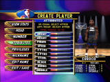 NBA Showtime: NBA on NBC PlayStation Create a custom player
