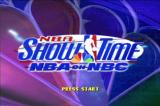 NBA Showtime: NBA on NBC PlayStation Title screen