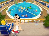 Leisure Suit Larry: Love for Sail! DOS Pool area