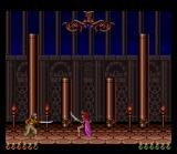Prince of Persia SNES A duel with an Amazon guard.