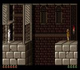 Prince of Persia SNES The Prince's shadow blocks the way.