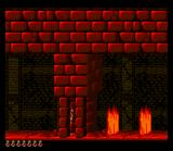 Prince of Persia SNES The underworld levels have appropriately styled flame traps.