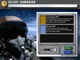 Jane's Combat Simulations: U.S. Navy Fighters '97 Windows Campaign selection