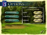 PGA Tour 96 DOS Game options
