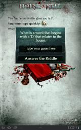 House of Hell Android You are required to type in the answer
