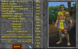 The Elder Scrolls: Daggerfall (Demo Version) DOS The character screen.
