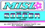 Major Indoor Soccer League DOS Title screen