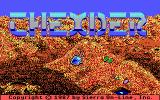 Thexder DOS Title screen (Tandy/PCjr)
