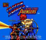 Captain America and the Avengers Genesis Title Screen