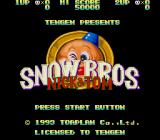Snow Bros. Nick & Tom Genesis Title Screen