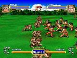 Dragon Force SEGA Saturn battle in progress